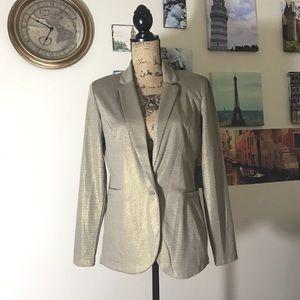 Style & Co gold shimmering blazer, Sz. M